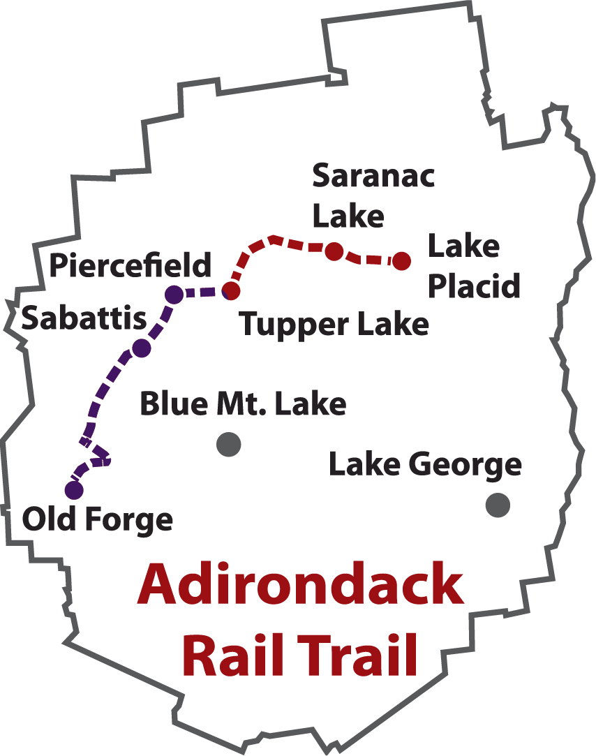 Adirondack Rail Trail Map